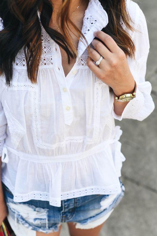 Ralph Lauren Denim Supply lace blouse