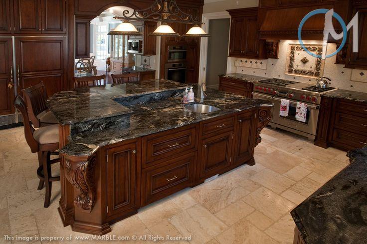 Marble Backsplash Kitchen Black Granite