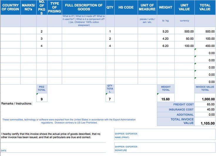 Free Excel Invoice Templates Smartsheet regarding Invoice ...