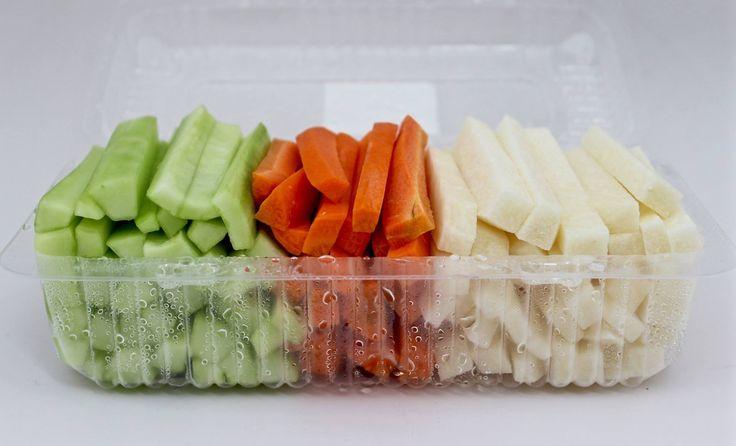 Charola jícama, zanahoria y pepino chica