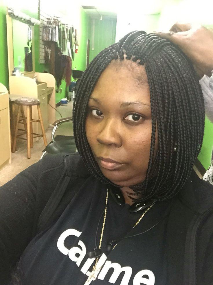 Braid In A Bob Natural Hair Style Braids Pinterest