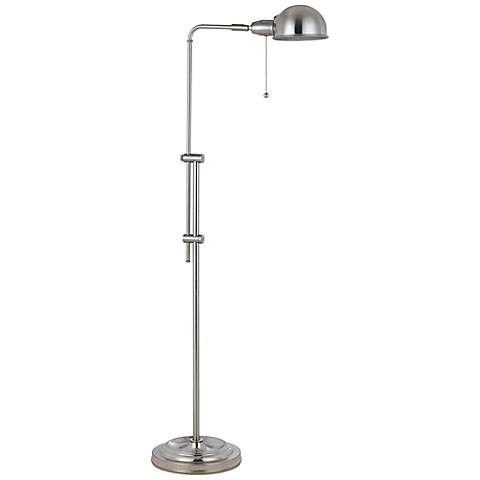 Tamber Brushed Steel Adjustable Pharmacy Floor Lamp - #2F129 | Lamps Plus