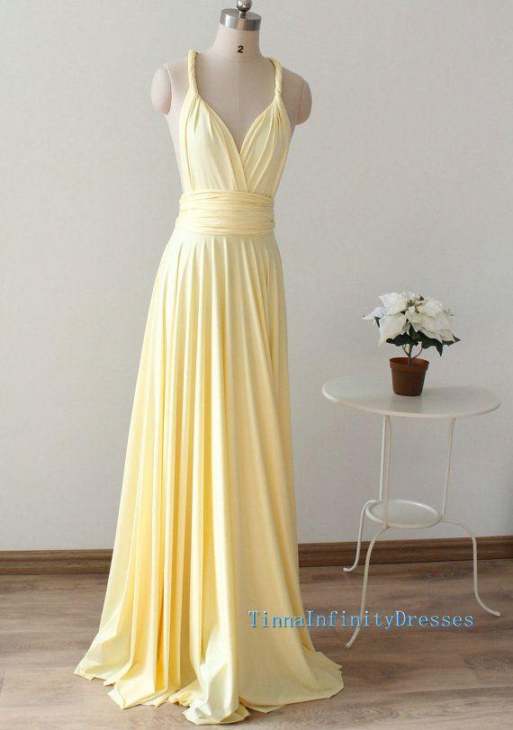 Long Bridesmaid Dresses Light Yellow Long By