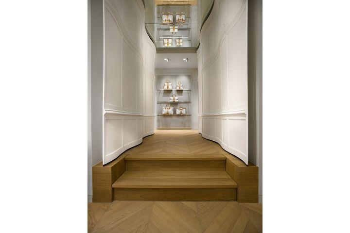 Entering the Delvaux boutique at the Galerie de la Reine in Brussels