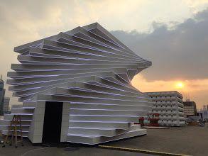 Photo: Pavilions for the 350th anniversary of Saint-Gobain (launch in Shanghai) #SaintGobain350