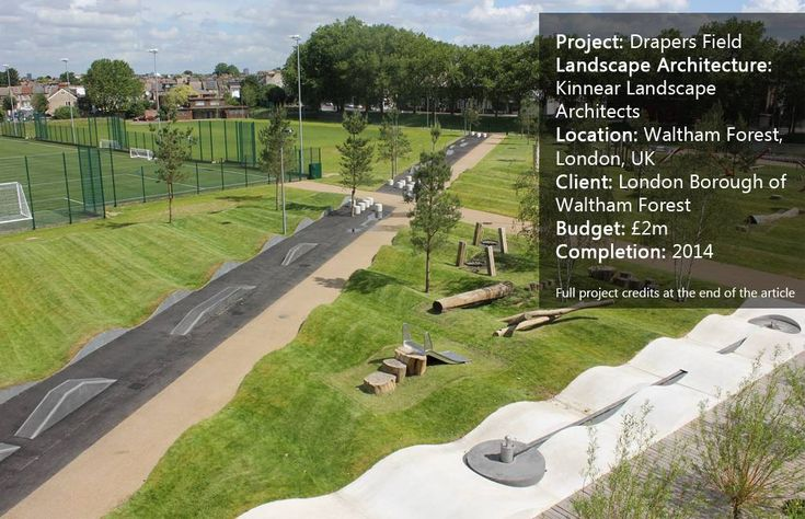 A review of the park design at Drapers Field by Kinnear Landscape Architects, in Waltham Forest, London, UK.