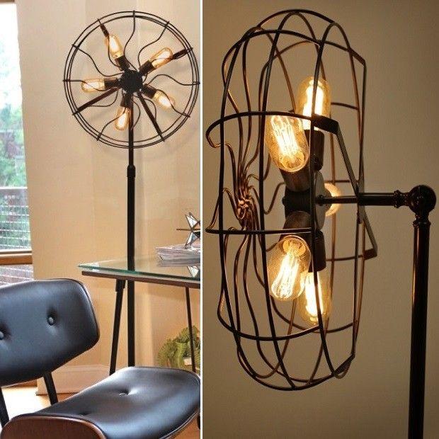 Unique Fan Floor Lamp