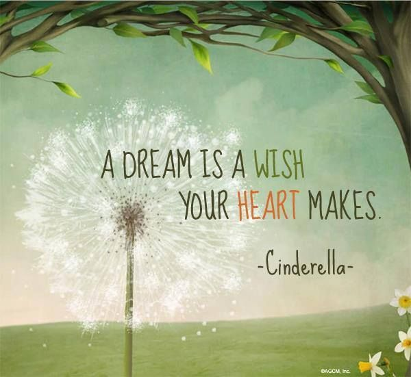A dream is a wish your heart makes | Meaningful Words and ... A Dream Is A Wish Your Heart Makes Images