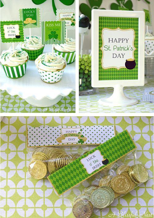 St. Patricks Day Free Party Printables