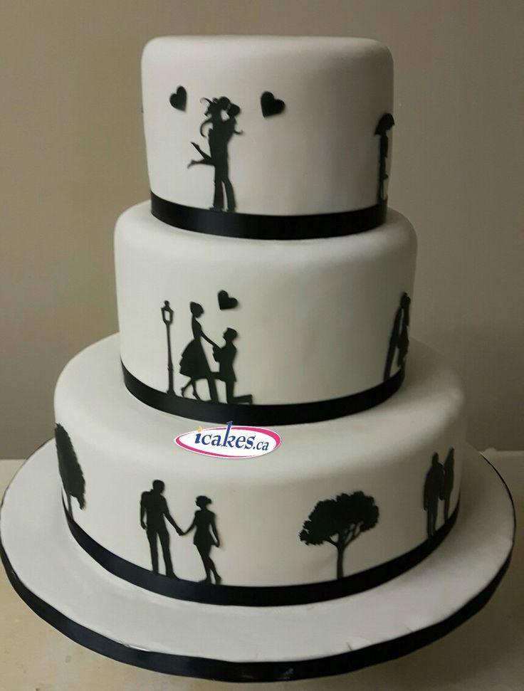 Latest technology innovation by #iCakes #silhouttecake #silhouette #cakes #couplecake #weddingcakes #wedding #engagementcake #bridalshower #fancycakes #stencil #groomcakes #gtacakes