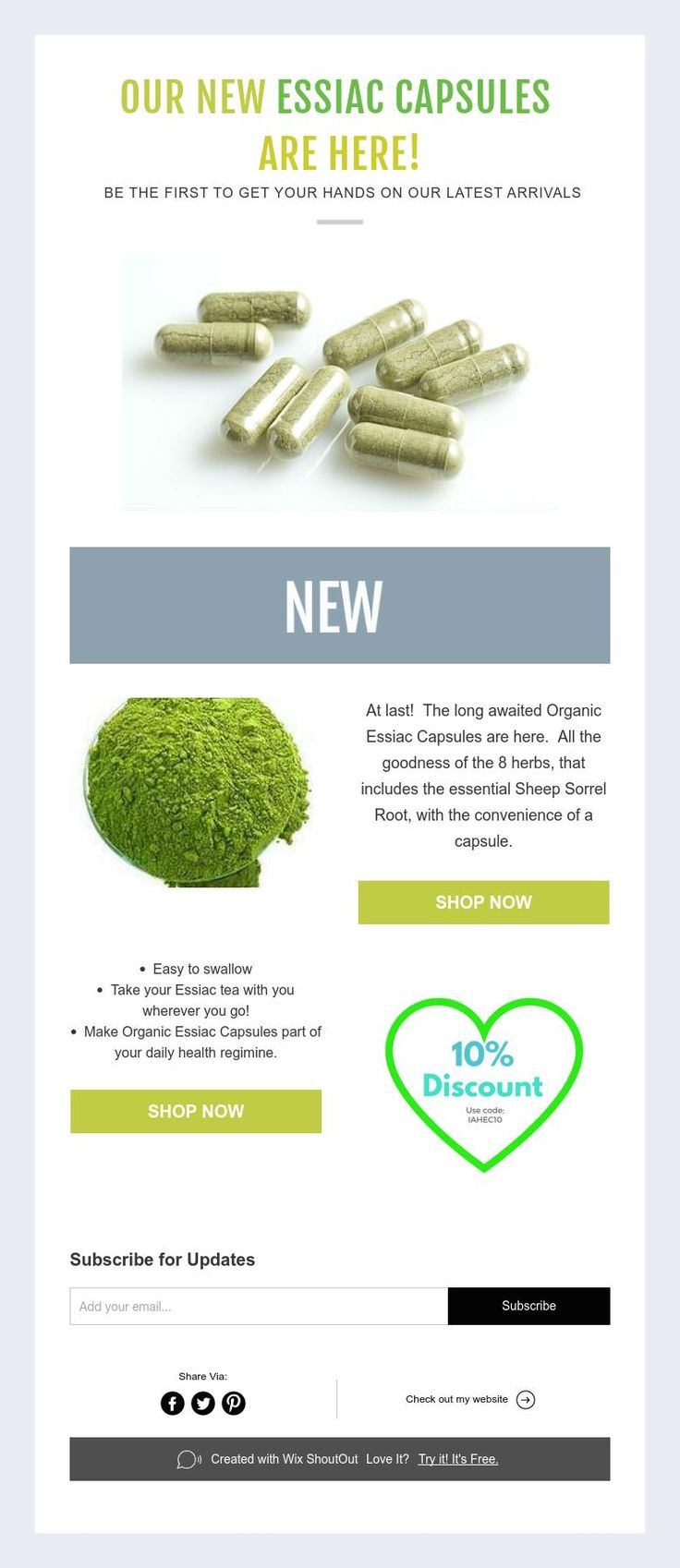 Cancer cure essiac herbal tea - Our New Essiac Capsules Are Here Be The First To Get Your Hands On Our