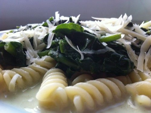 Простая паста со шпинатом и сливками - пошаговый рецепт
