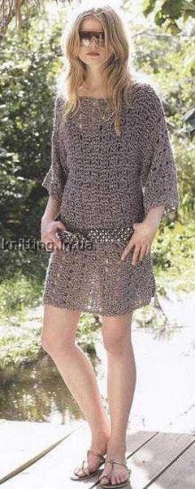 Ажурное мини-платье
