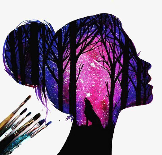 Creative Star, Star Clipart, Girls Avatar, Forest …