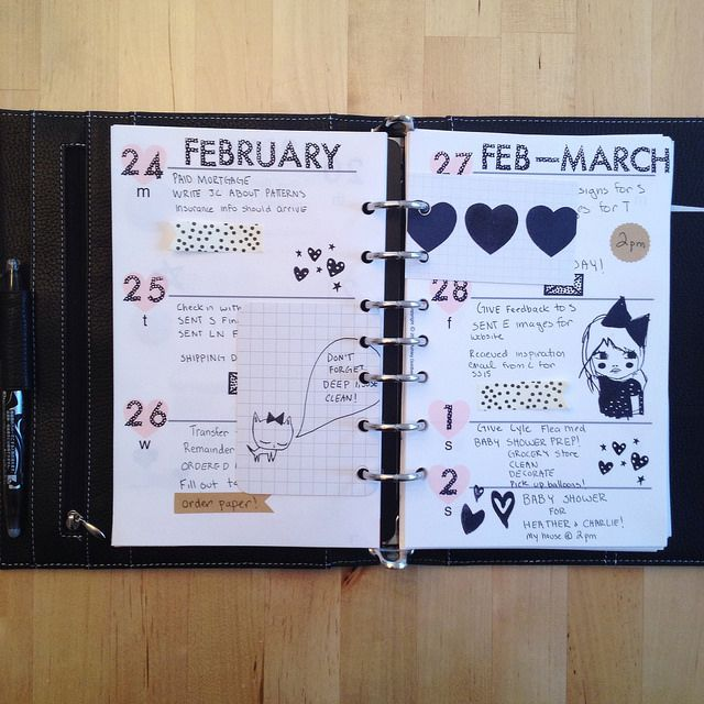 filofax page with ashley g free downloadable heart inserts found here :http://www.youtube.com/watch?v=x0uIoClmuKQ  #filofax #planner #agenda