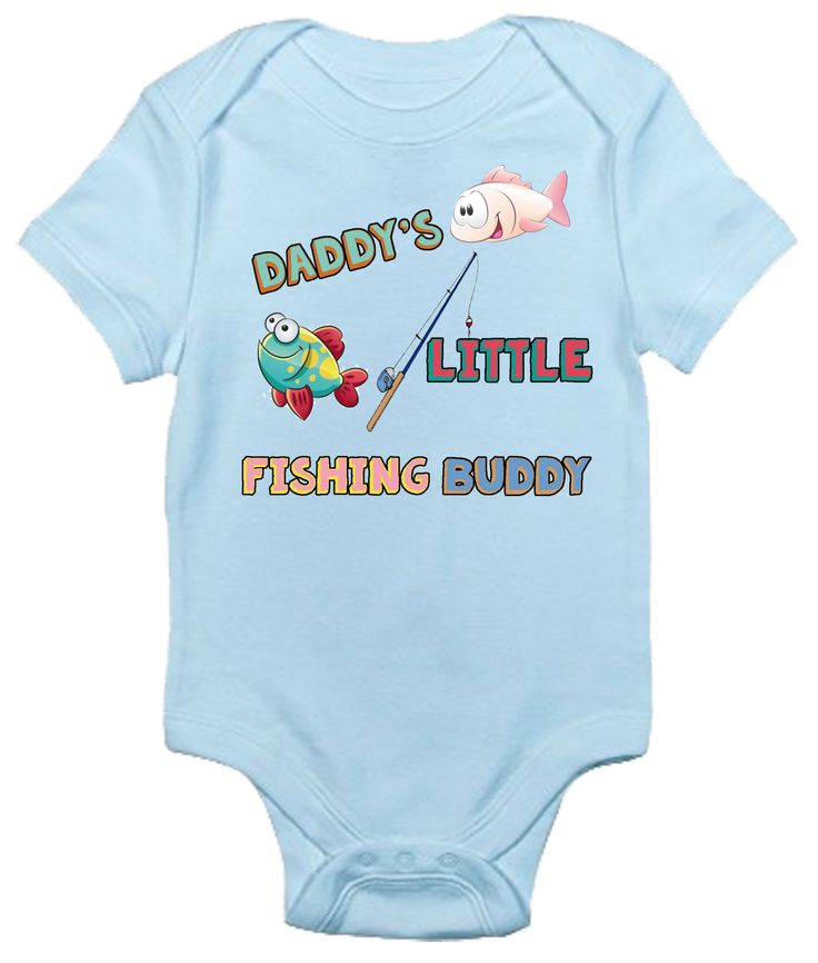 Daddy's Little Fishing Buddy One-piece Baby Bodysuit