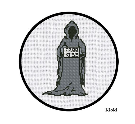 Cross Stitch Pattern Dementor's Kiss Instant by TinyNeedle on Etsy, $4.50