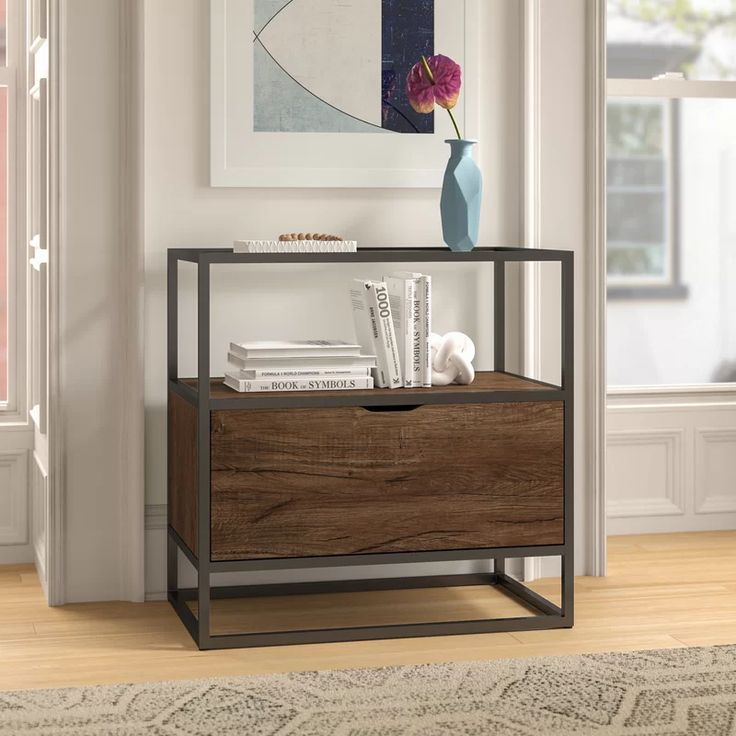 turgeon 1 drawer vertical filing cabinet in 2020 filing cabinet furniture etagere bookcase on kitchen cabinets vertical lines id=26596