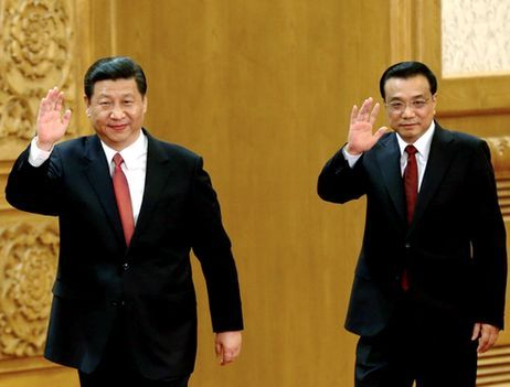 Government: Leaders: Xi Jinping (left) and Li Keqiang (right) These two men have the leading roles in China's communist party. Xi Jinping is the General Secretary, or Chief of State, and meets with world leaders like Obama. He is also regarded as the president of China. Li Keqiang is the Premier of the State Council, or Leader of Government, who is the actual first-position leader of the country.