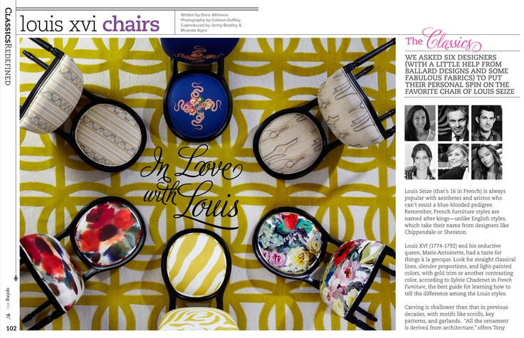 Our Louis chairs in the premier issue of TradHome!