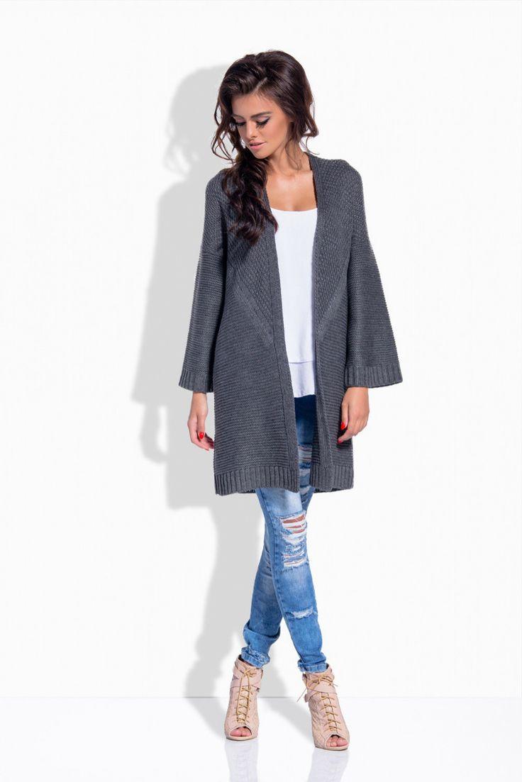 https://www.margery.pl/Kardigan-Model-LS171-Grafit-p10635   Zapraszamy! Promocja -25% na swetry i kurtki!