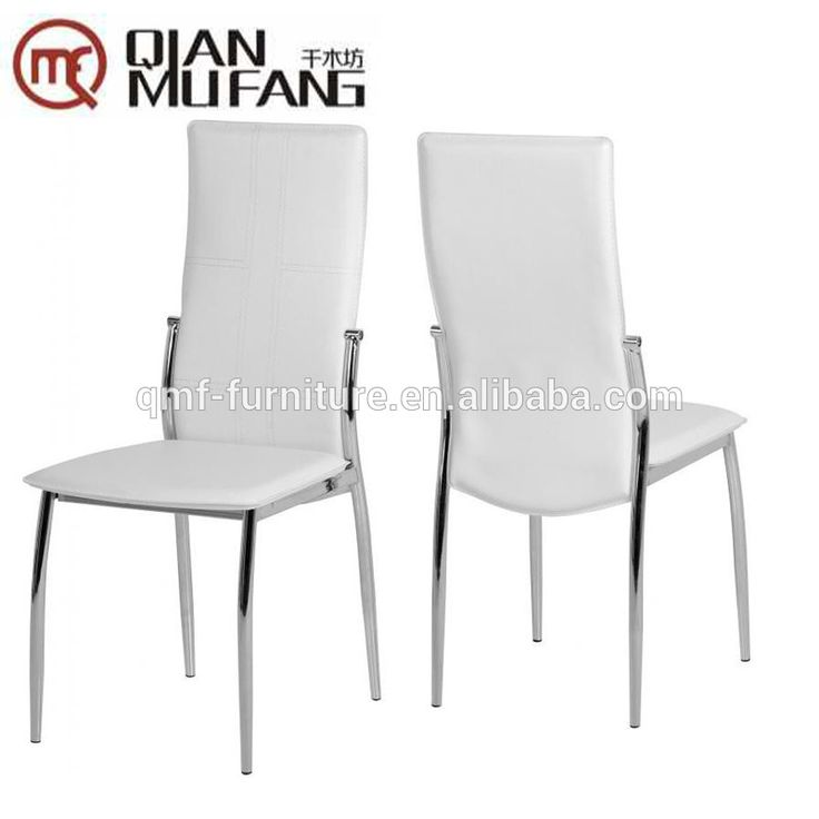 white leather metal dining room restaurant chairs for sale