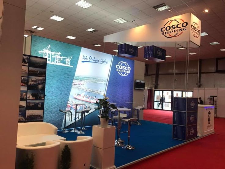Cosco Shipping Lines booth at TransLogistica Bucharest