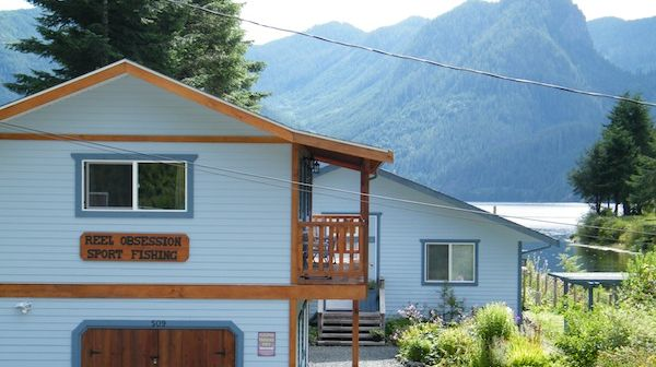 Here is the Reel Obsession fishing lodge in Zeballos BC.