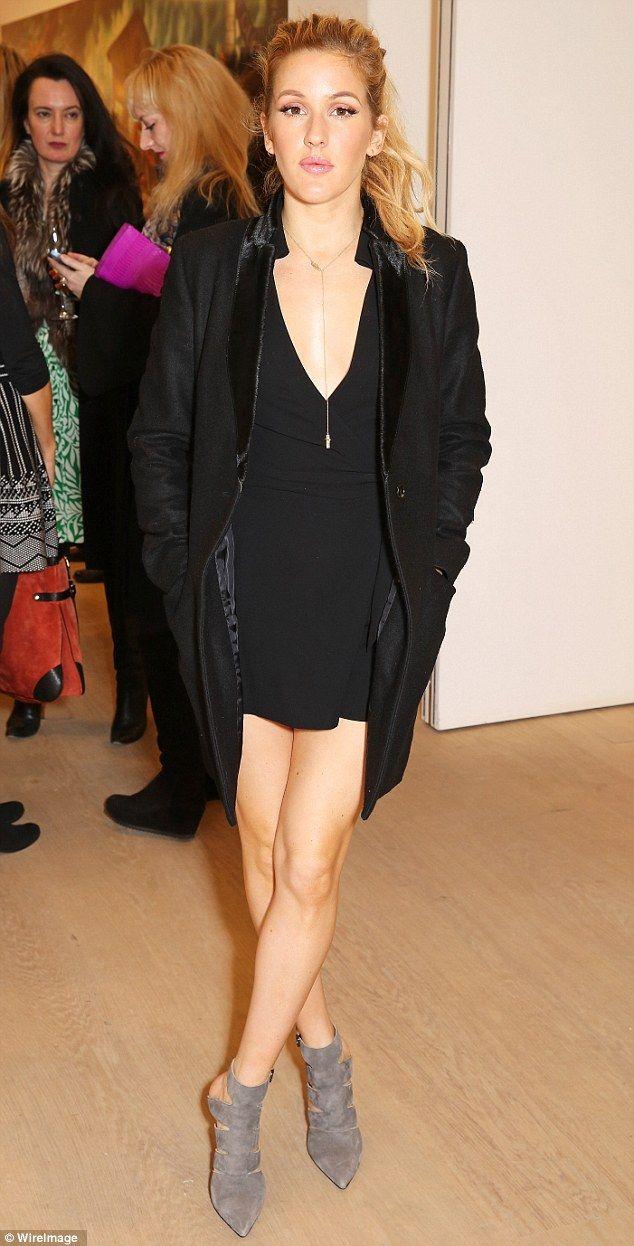 Black dress we heart it - Ellie Goulding Sports A Sparkler On Her Ring Finger At Fashion Launch