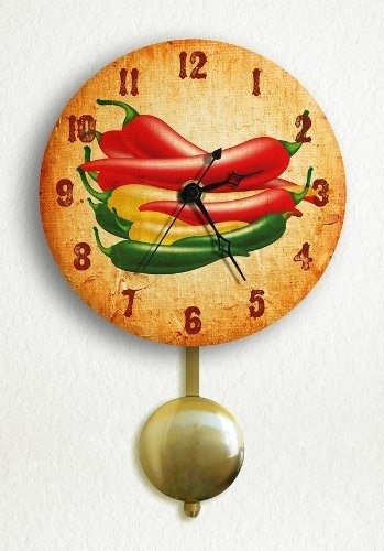Southwestern Chili Peppers 6 Silent Pendulum Wall Clock by Classical Creations, http://www.amazon.com/dp/B003M59OGQ/ref=cm_sw_r_pi_dp_rlVxrb1N5XZN5