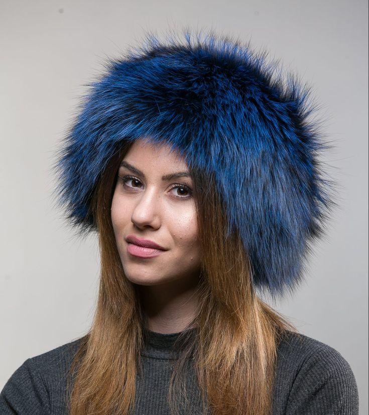 Blue Fox Fur Hat    #bluefox #arzante #white #cap #winter #hat #haute #fashion