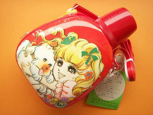 Kawaii Vintage Canteen Girl with Dog Rare Made in Japan 1970s by Kawaii Japan, via Flickr