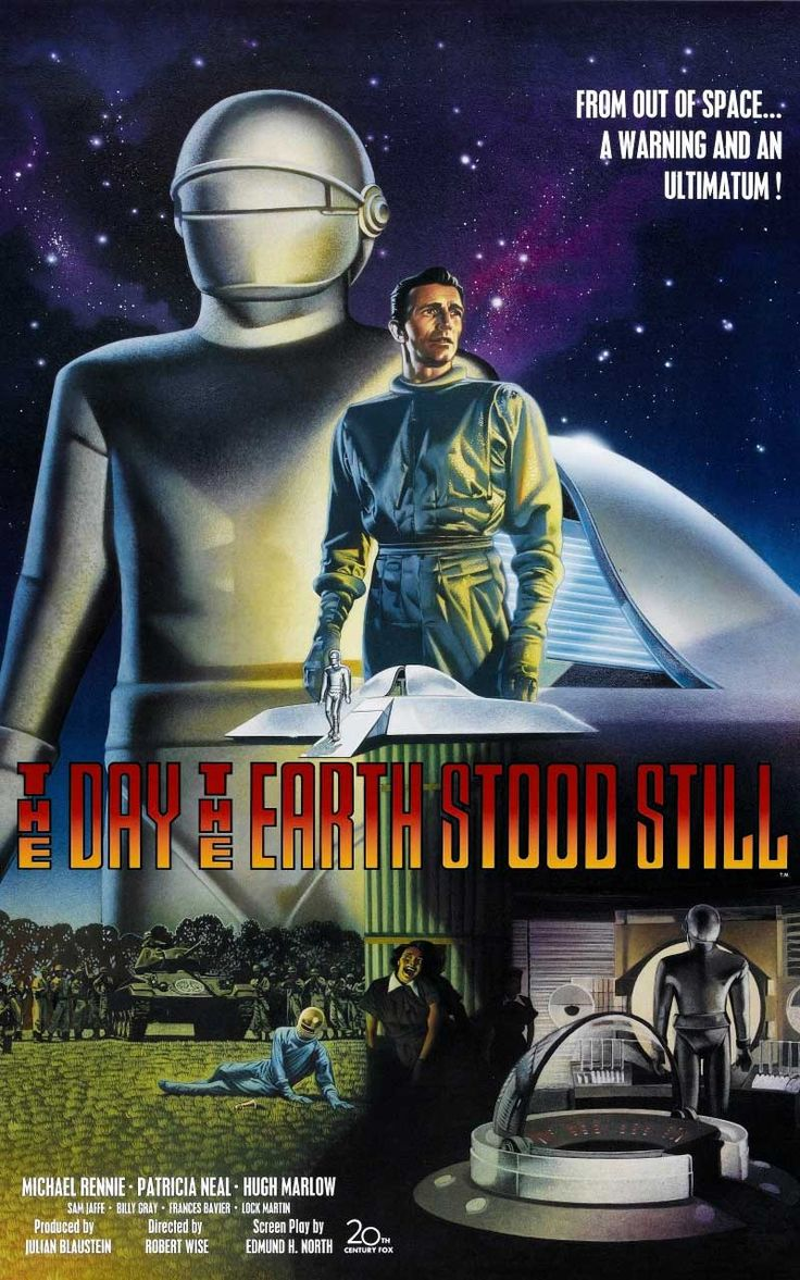 ❤️ April 2016 | Robert Wise | The Day the Earth Stood Still | USA (1951) | 054 1001-film | 007 Science Fiction