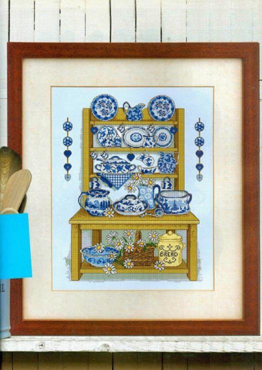22 best schemi punto croce cucina images on pinterest for Cross stitch kitchen designs