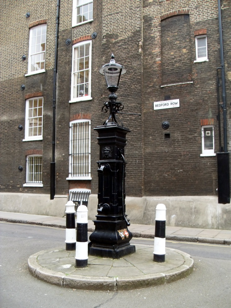 Water pump bollards of Bedford Row WC1 http://www.bollardsoflondon.co.uk