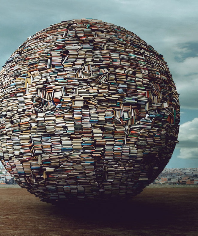 BOOK WORLD. Bank of the Planet advertisement (detail).  Created by Advertising Agency: Neogama/BBH, São Paulo, Brazil