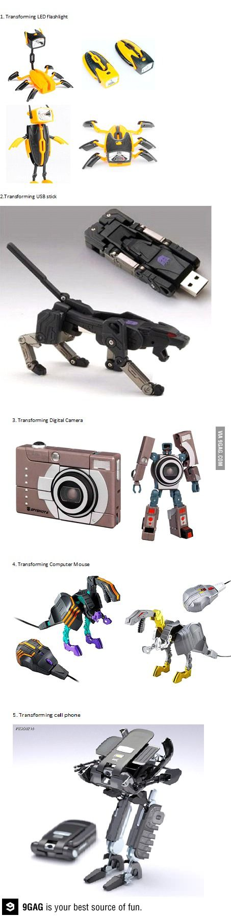 Some cool transforming gadgets                                                                                                                                                      More