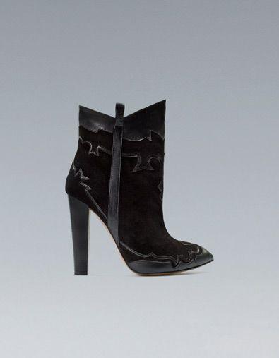 BOTÍN COWBOY TACÓN - Zapatos - Mujer - ZARA España