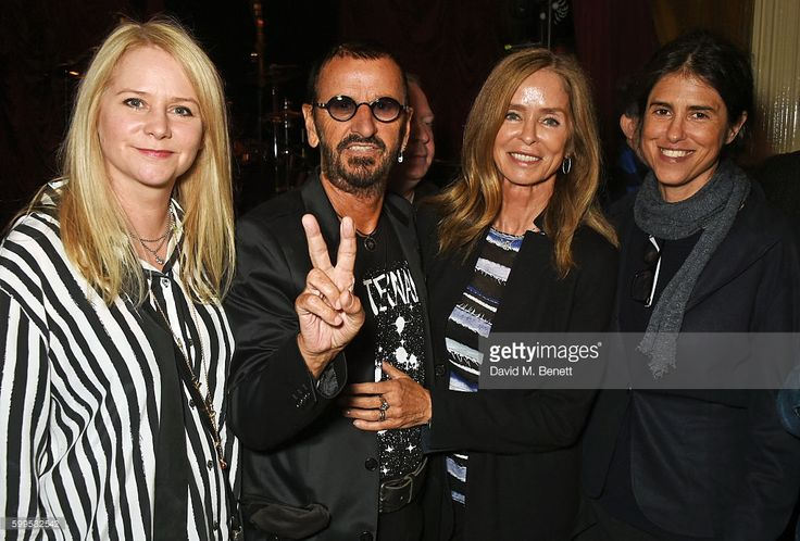 Lee Starkey, Ringo Starr, Barbara Bach and Francesca Gregorini attend the launch of 'Issues', a new album by SSHH in aid of Teenage Cancer Trust, at The Box on September 5, 2016 in London, England.