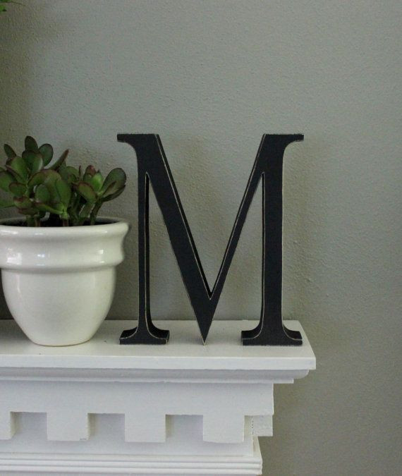 wood letters free standing distressed wooden letters alphabet decor letter m