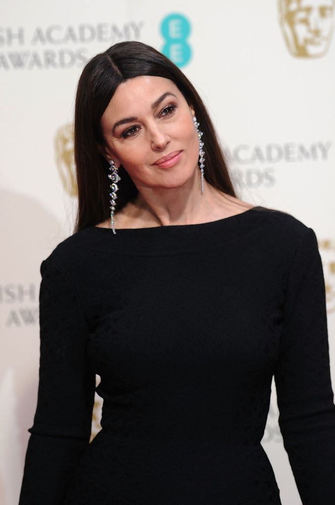 Monica Bellucci's Center Part - Haute Hairstyles for Women Over 50 - Photos