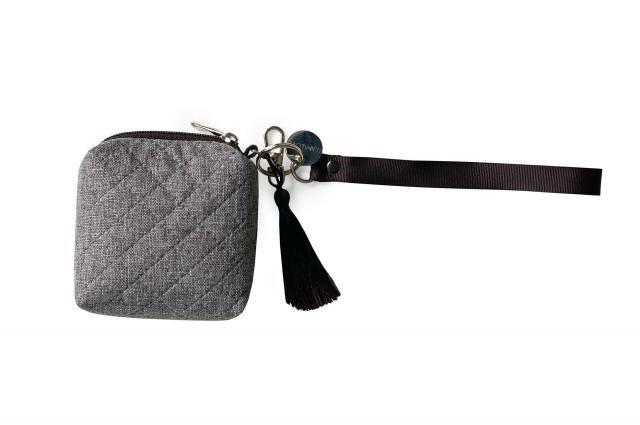 Minibag gray. Etui na smoczki, gryzaki i drobiazgi - gray