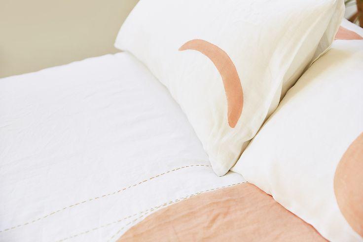 Blush Crescent Moon – Single Pillowcase