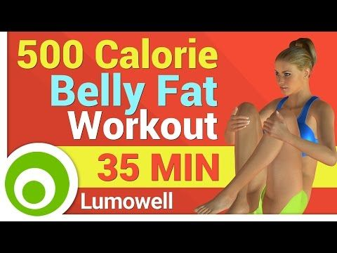 500 Calorie Belly Fat Workout - YouTube