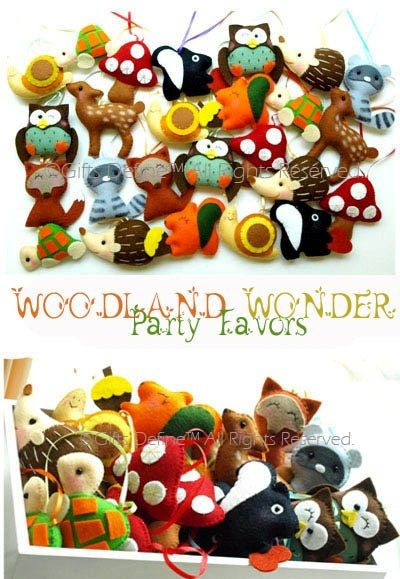 WOODLAND WONDER Party Favors Fall Theme Party by GiftsDefine