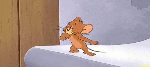 Tom y Jerry,...en un momento de paz