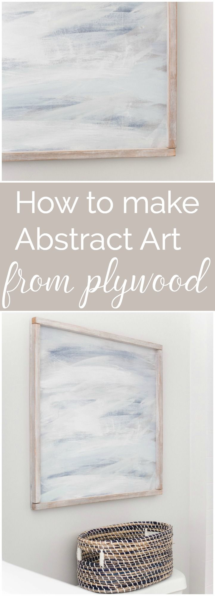 How about making your own abstract art from PLYWOOD! Cheap, easy, beautiful! I gotta try this! via @chelseacoulston