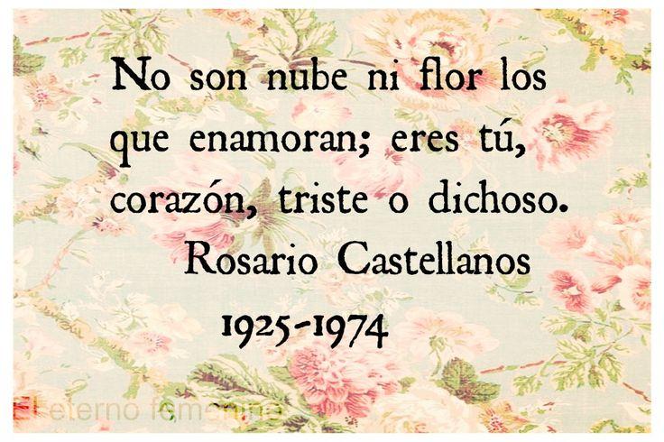 Rosario Castellanos, escritora y poetisa mexicana.