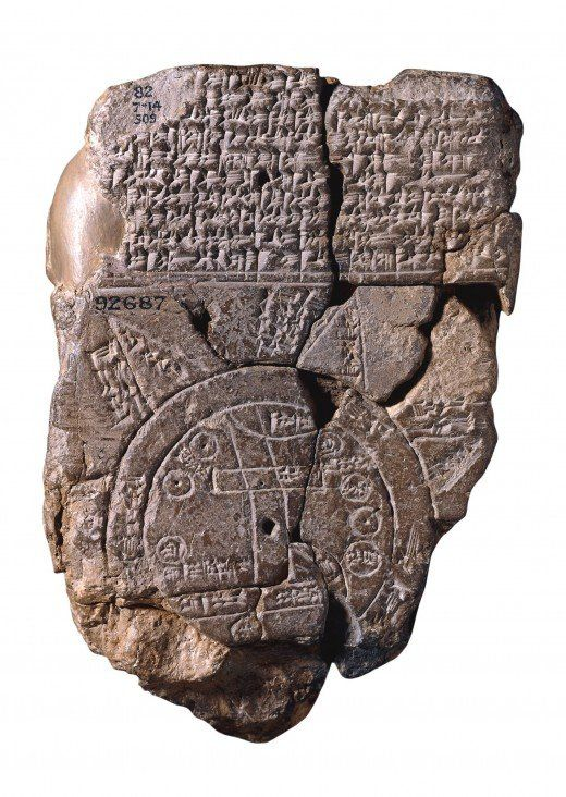 'The Babylonian World Map, the earliest surviving map of the world (c. 600 BCE), is a symbolic, not a literal representation.: History, Oldest Map, British Museum, 6Th Century, World Maps, Century Bce