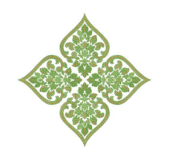 Ornament, pattern, decor -  Machine Embroidery Design - Instant Download - Four…